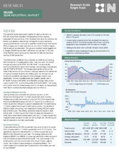 Miami Industrial Real Estate Report