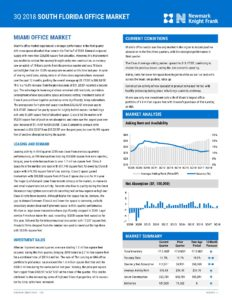 Industrial and commercial real estate report Miami, Florida